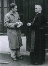 Brother Michael (left) during an early HCPT pilgrimage