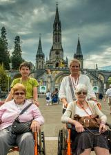 Visiting the Shrine in Lourdes